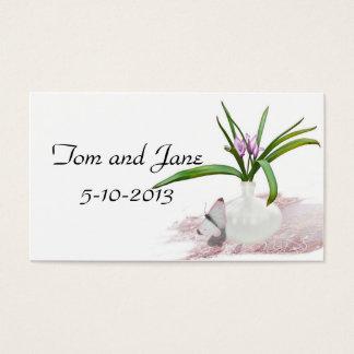 Carte de remerciements de papillon et de fleurs