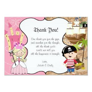 Carte de remerciements de partie de princesse