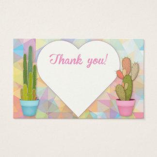 Carte de remerciements de pastel de cactus