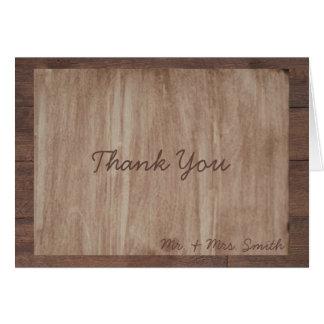 Carte de remerciements de pays en bois et de