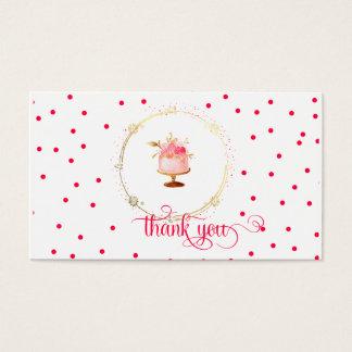 Carte de remerciements de petit gâteau de ★