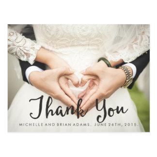 Carte de remerciements de photo de mariage