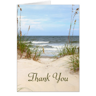 Carte de remerciements de plage