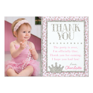 Carte de remerciements de princesse Cheetah