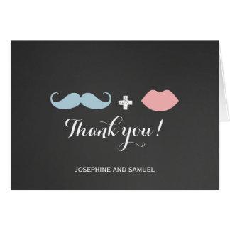 Carte de remerciements de tableau de baiser de