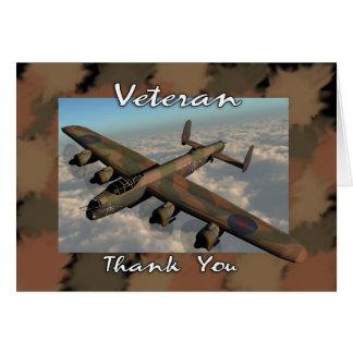 Carte de remerciements de vétéran avec le