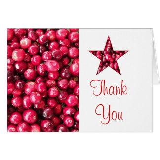 Carte de remerciements d'étoile de canneberge