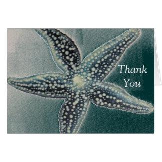 Carte de remerciements d'étoiles de mer