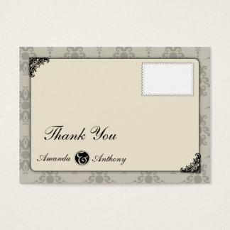 Carte de remerciements élégant