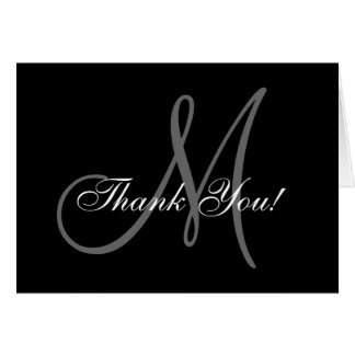 Carte Carte de remerciements élégant de mariage de