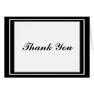 Carte de remerciements élégant de Mitzvah de barre