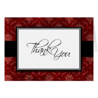Carte de remerciements élégant écrasé de mariage
