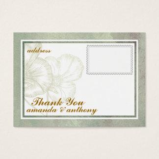 Carte de remerciements élégant simple