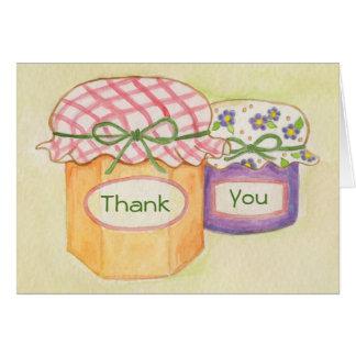 Carte de remerciements fait maison de sucreries