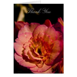 Carte de remerciements - fleur de bégonia