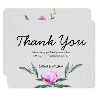 Carte de remerciements floral de mariage
