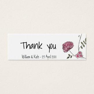 Carte de remerciements floral pour épouser des