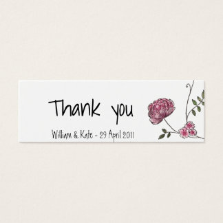 Carte de remerciements floral pour épouser des carte de visite petit format