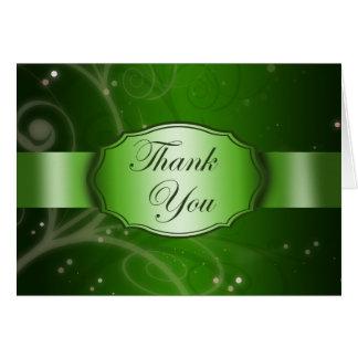 Carte de remerciements floral vert élégant