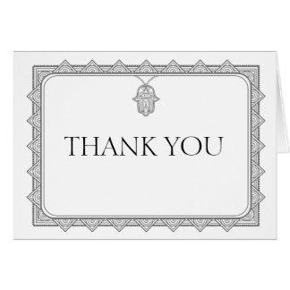 Carte de remerciements gris de conception de main