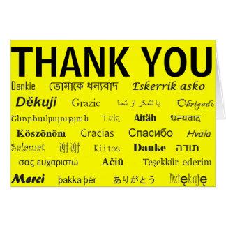 Carte de remerciements international