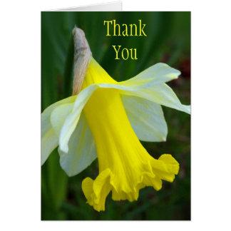 Carte de remerciements - jonquille jaune