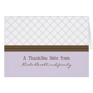 Carte de remerciements lilas à la mode de photo de
