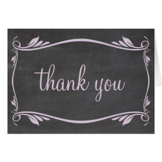 Carte de remerciements lilas de tableau de
