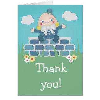 Carte de remerciements mignon de baby shower de