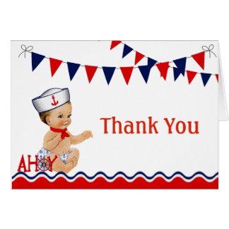 Carte de remerciements nautique de baby shower