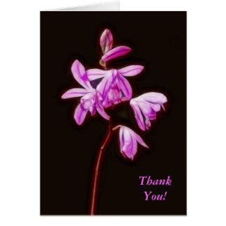 Carte de remerciements Painterly d'orchidée de