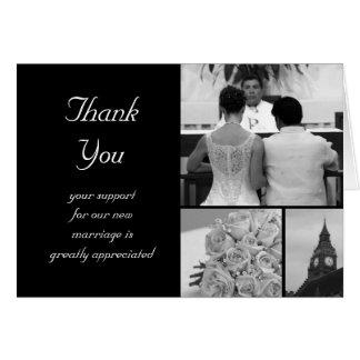 Carte de remerciements personnalisable de mariage