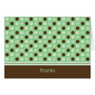 Carte de remerciements personnalisé de point de
