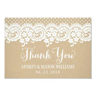 Carte de remerciements plat   Papier d'emballage Carton D'invitation 8,89 Cm X 12,70 Cm