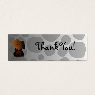 Carte de remerciements rocheux