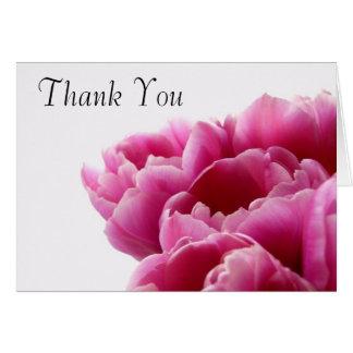 Carte de remerciements rose de fleur