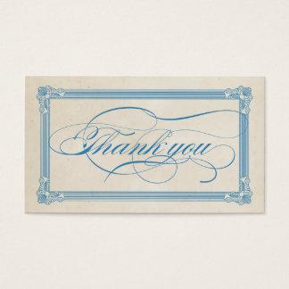 Carte de remerciements rouge, blanc et bleu de