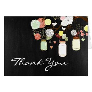 Carte de remerciements rustique de pot de maçon de