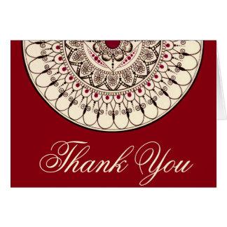 Carte de remerciements tiré par la main de mandala