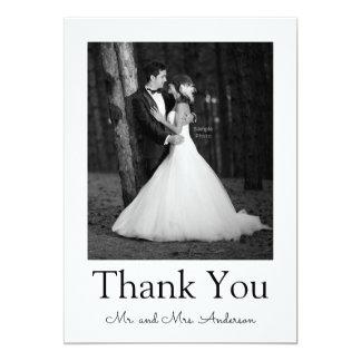Carte de remerciements vintage d'image carton d'invitation  12,7 cm x 17,78 cm