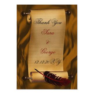 carte de remerciements vintage carton d'invitation  12,7 cm x 17,78 cm