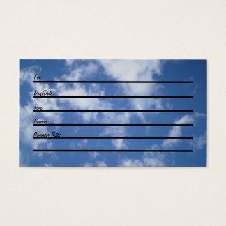 Carte de rendez-vous (ciel)