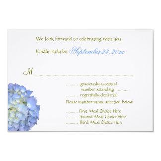 Carte- de réponse de mariage d'option de menu de carton d'invitation 8,89 cm x 12,70 cm