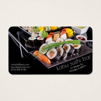 carte de restauration de bar à sushis