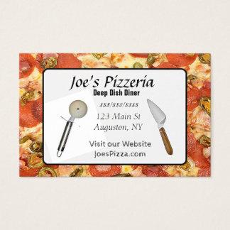 Carte de restauration de pizza