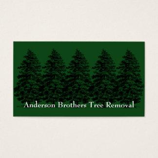 Carte de retrait d'arbre de paysage