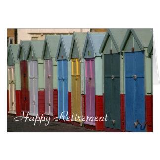 Carte de retraite de huttes de plage