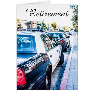 Carte de retraite de policier
