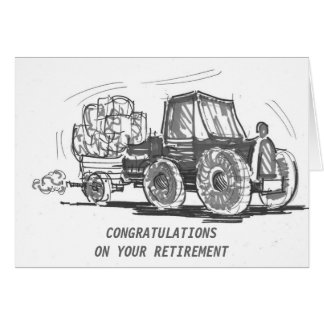Carte de retraite de tracteur