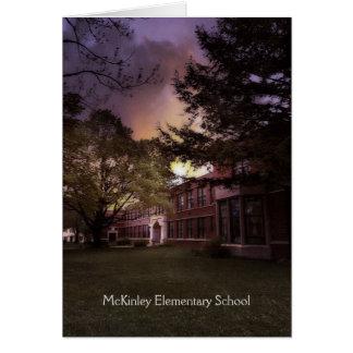 Carte de retraite d'école primaire de McKinley